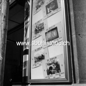 Egalement à l'affiche en mai 1956, un documentaire sur le 50ème anniversaire du tunnel du Simplon.