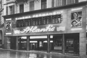 La façade de l'Atlantic avant son ouverture.