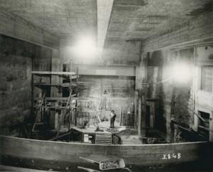 Michel Dionesotti en plein chantier (3 août 1948).