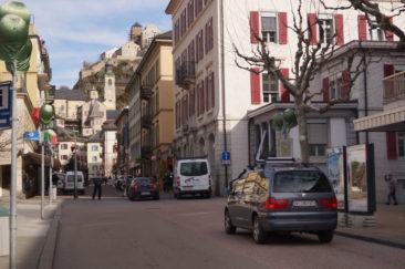 <p>La rue de Lausanne en mode zone mixte</p>