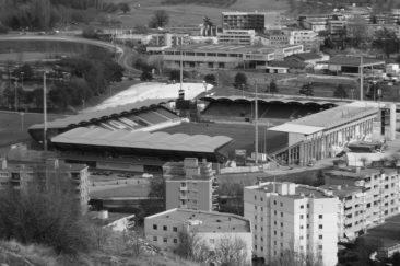<p>La Stade de Tourbillon depuis Valère</p>