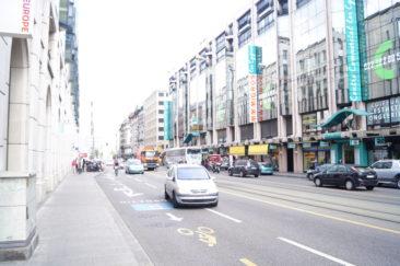 Rue de Lausanne vers la gare Cornavin