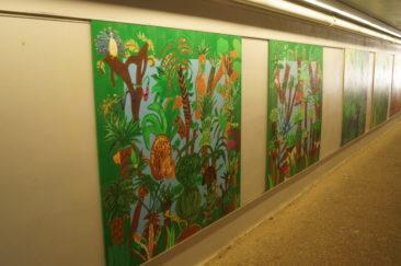 Passage sous la rue de Lausanne vers le Jardin Botanique