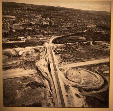le chantier de l'A1 à la Bourdonnette (1963)