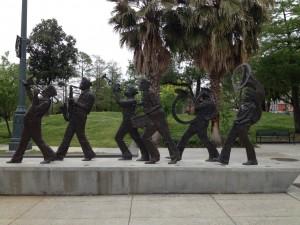 Aux abords du Louis Armstrong Memorial Park, New-Orleans.