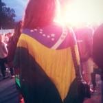 Un des nombreux drapeaux brésiliens
