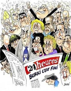 """""""Merci et au revoir"""" Le dernier dessin de Burki dans 24heures"""