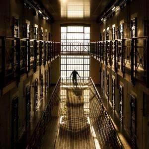 L'intérieur de la Prison du Bois-Mermet, à Lausanne, aujourd'hui.