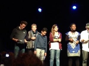 Les trois finalistes jeunes (gagnants de gauche à droite)