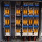 Intérieur d'une l'armoire électrique