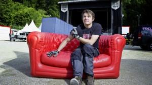 Pully, le 19 aout 2014. Olivier Meylan directeur du festival For Noise. (© Odile Meylan)