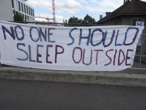 no one should sleep outside