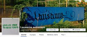 Capture d'écran de la page « Lausanne autrement ».