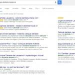 Recherche Google, dentiste et un article du magazine 360°