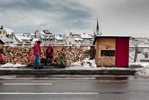 Une des équipes de bénévoles, durant l'hiver 2010 (© Gérald Verdon Photography)