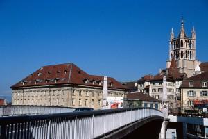 Les anciennes balustrades du Pont Bessières (© Ville de Lausanne)