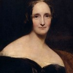 Portrait de Mary Shelley, l'auteure de Frankenstein, peinte par Richard Rothwell. Exposé au National Portrait Gallery.