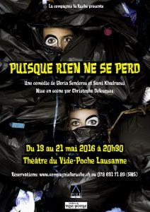 Affiche du spectacle © Compagnie de la Ruche