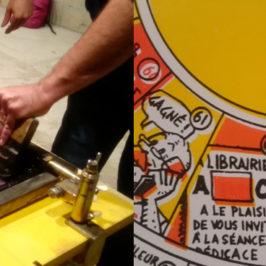 BDFIL 2016 : L'atelier de sérigraphie Drozophile