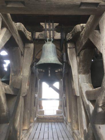 Les cloches au beau milieu du Beffroi.