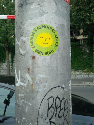 Dans la famille écolo, j'ai nommé le sticker antinucléaire