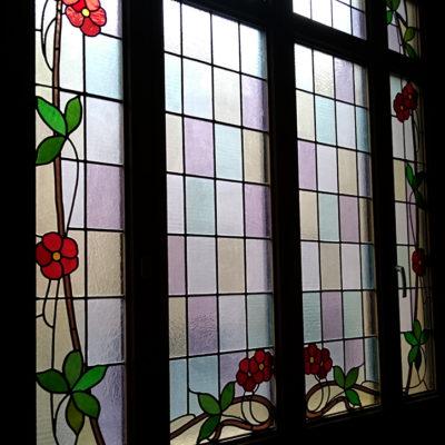 Motifs floraux Art Nouveau.