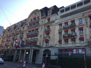 Le Lausanne Palace, bâtiment emblématique de la ville.